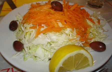 A healthy winter salad in Athens