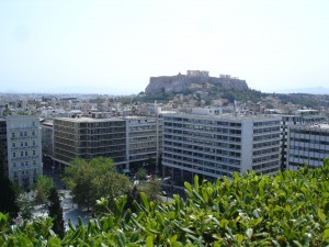 Grande Bretagne views to Acropolis