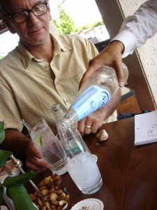 Ouzo and water
