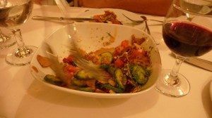 Forks flew before I could capture a picture of the flavorful fatoush salad