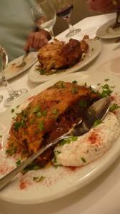 Oven baked eggplant and onion feta tart