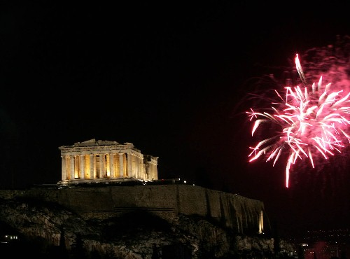 New Years Day in Athens